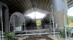 Oil Palm fiber rotary dryer plant